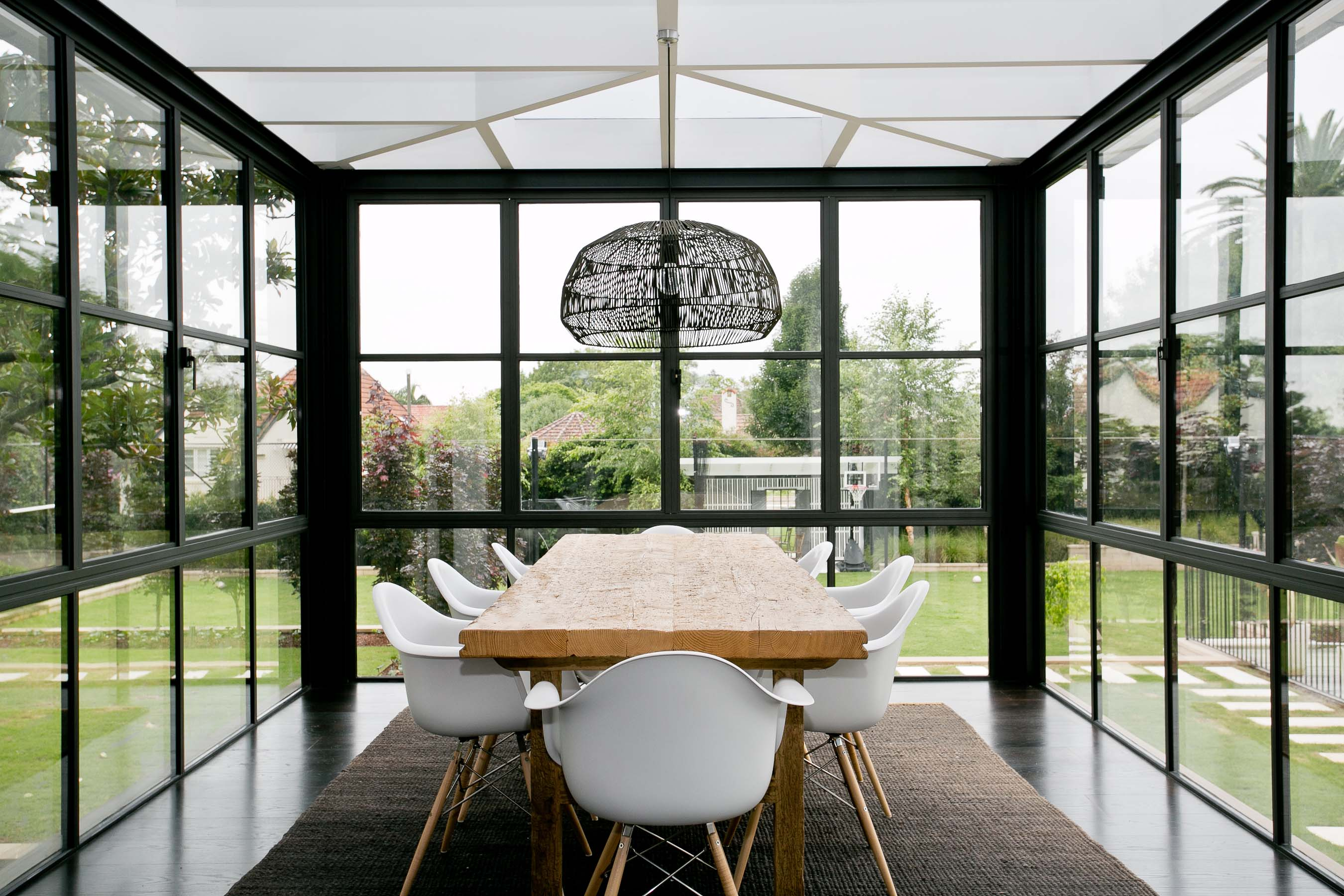 Arredo Balconi E Terrazze verande e giardini d'inverno in stile moderno - living corriere