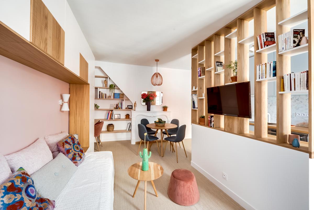 Libreria Bifacciale A Soffitto librerie divisorie: 20 idee per usarle bene - livingcorriere