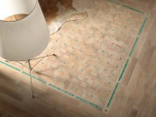 parquet 25x25 rovere sbiancato-turchese 001