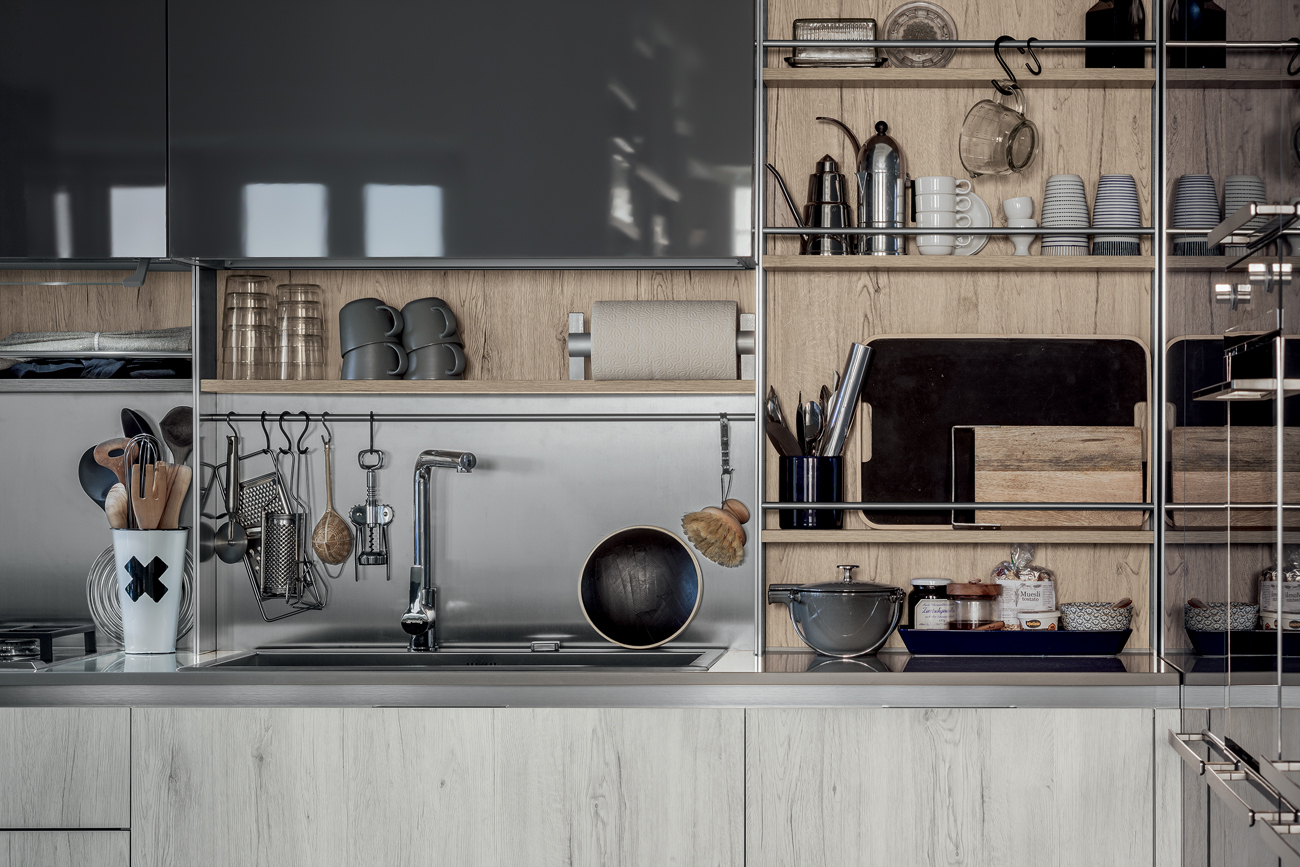 Mobili Per Cucina Piccola organizzare la cucina con utensili tuttofare