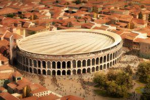 Stop alla copertura dell'Arena di Verona