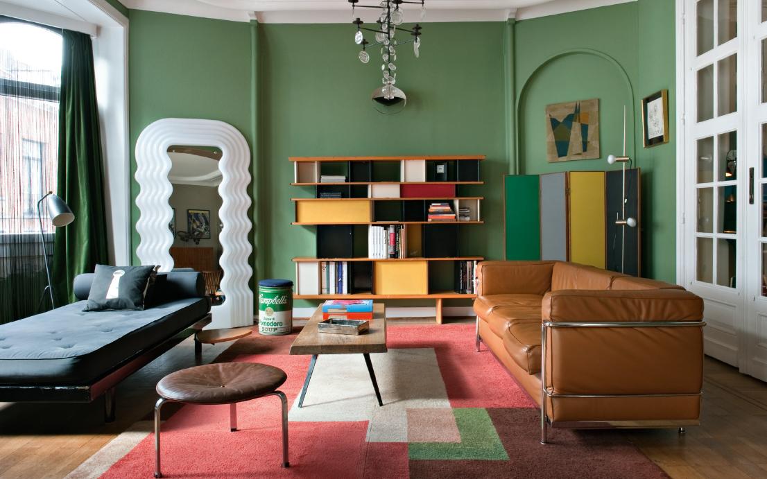 30 idee per il colore alle pareti del soggiorno for Pareti colorate moderne