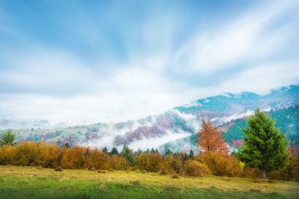 Autumnal time in Carpatian mountains, photographed with Nikon D800 camera