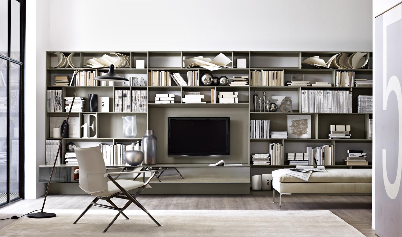 La parete attrezzata per il soggiorno 25 idee di design for Soggiorno living