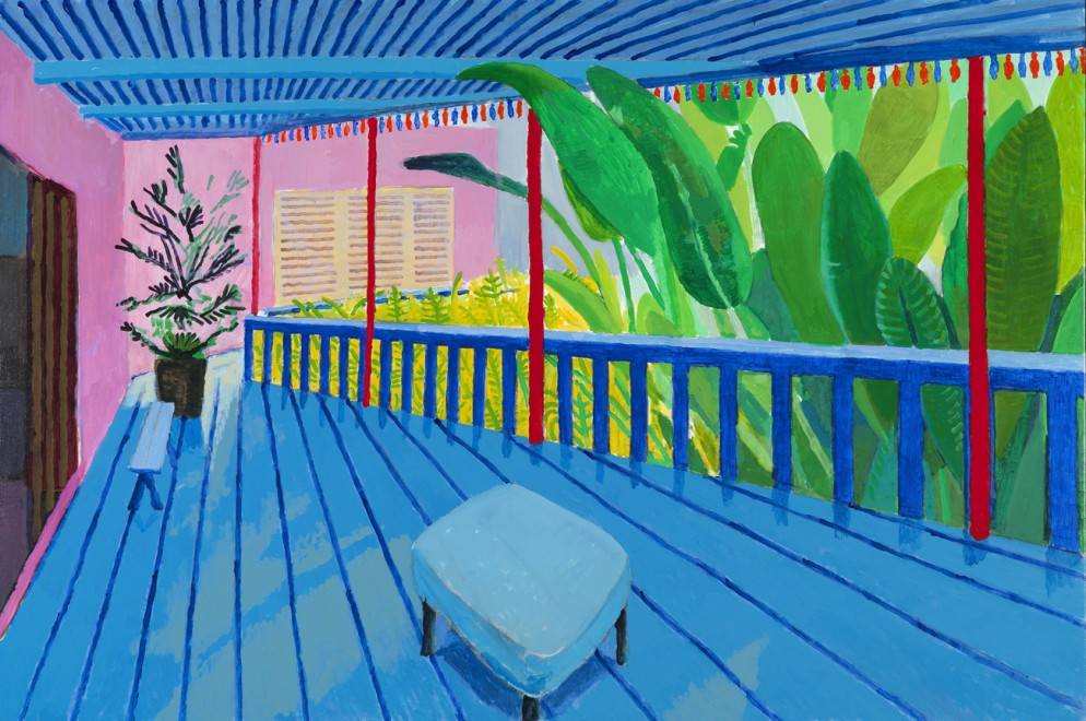 Garden with Blue Terrace 2015