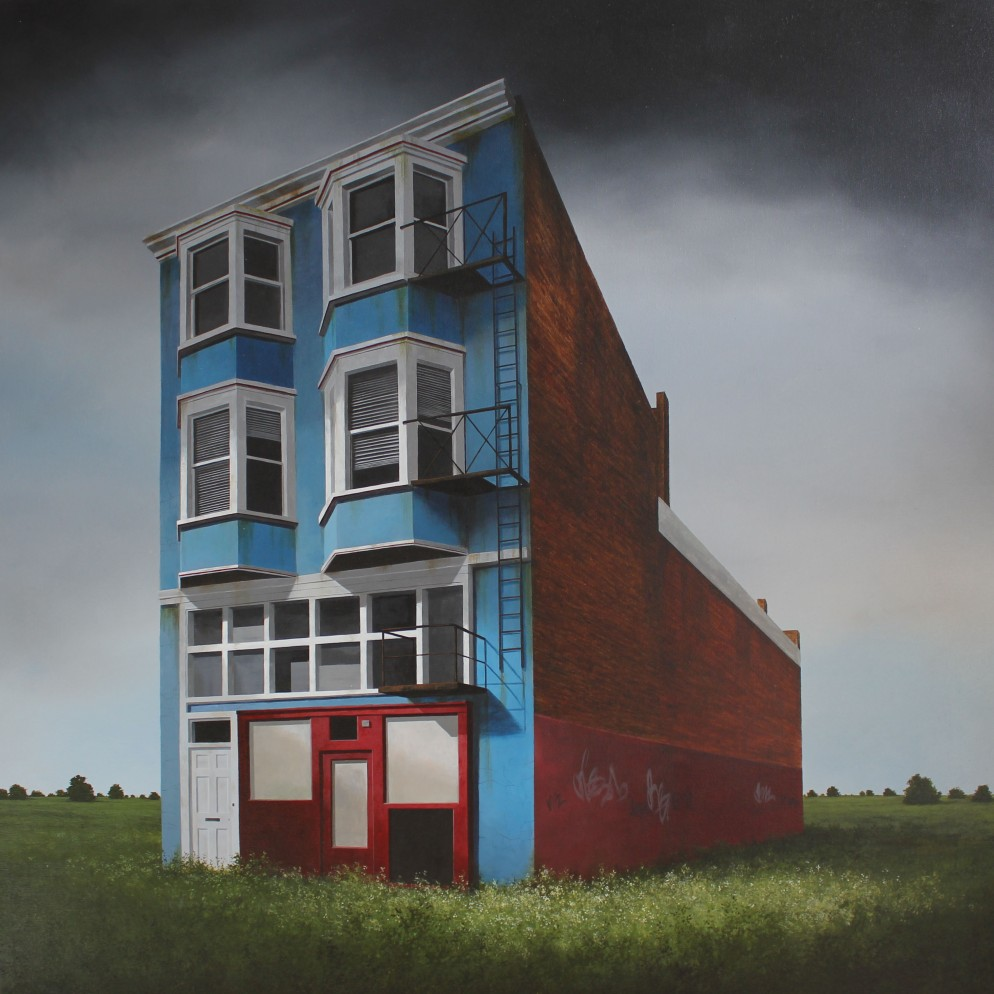 Lee Madgwick - Convenience Store - oil_acrylic on canvas - 100 x 100cm - 2017
