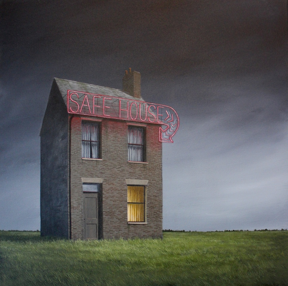 Lee Madgwick -Safe House - 50 x 50cm - acrylic on canvas
