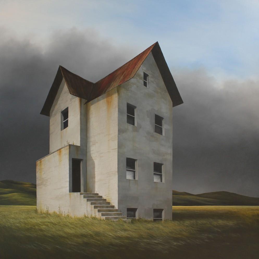 Lee Madgwick - Season's End - oil_acrylic on canvas - 100 x 100cm - 2017