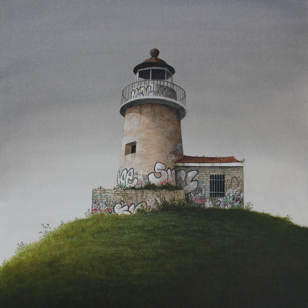 Lee Madgwick - The Lighthouse - 50 x 50cm - acrylic on canvas - 2017