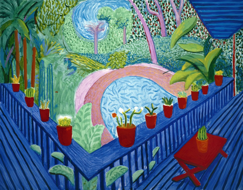 Red Pots in the Garden 2000