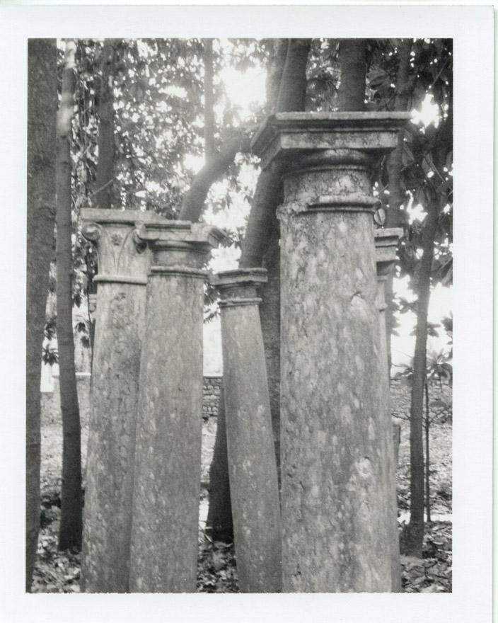 Colonne nel giardino di Gabriele d'Annunzio. Foto Patty Smith