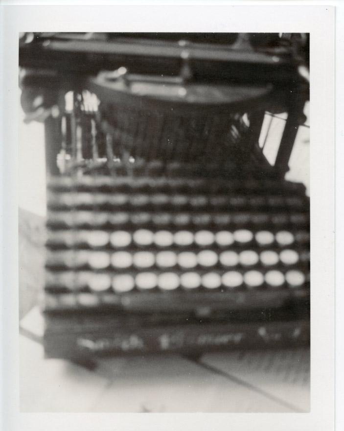 La macchina da scrivere di Herman Hess. Foto Patty Smith