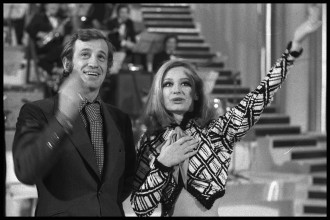 Jean Paul Belmondo, Raffaella Carrà Canzonissima, 1971 Courtesy Rai Teche