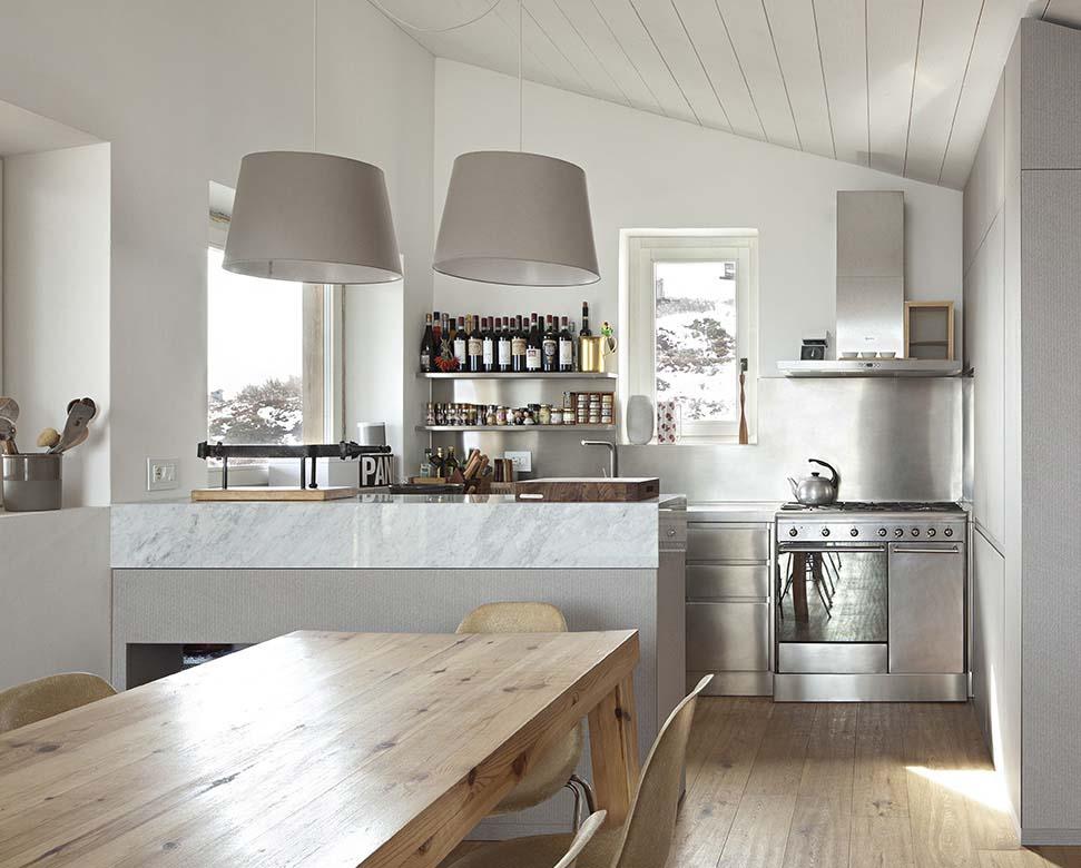 Cucine monoblocco o a scomparsa for Arredamento minimalista design