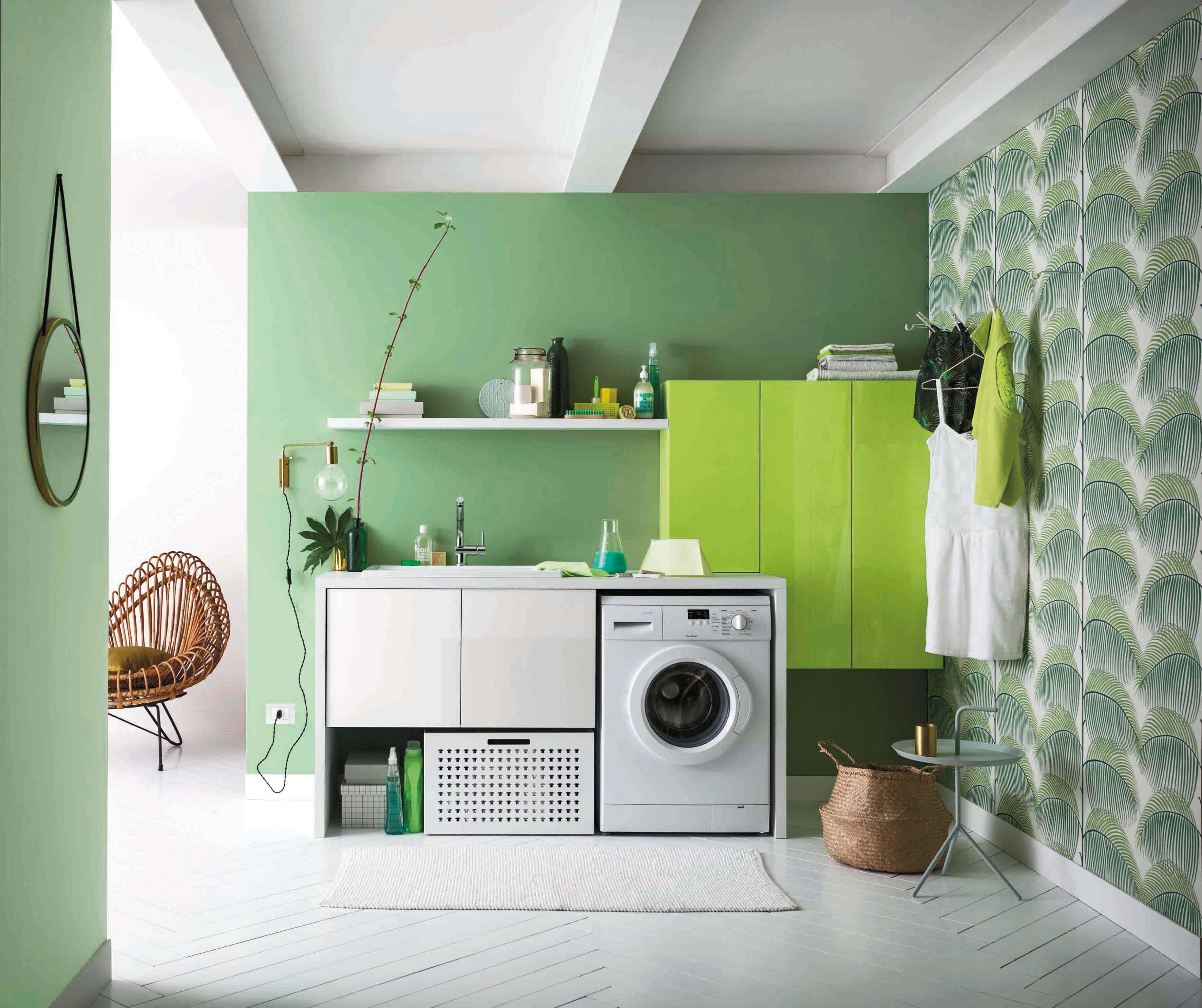 Lavatrice Ed Asciugatrice Sovrapposte lavanderia chic: 35 idee per organizzarla