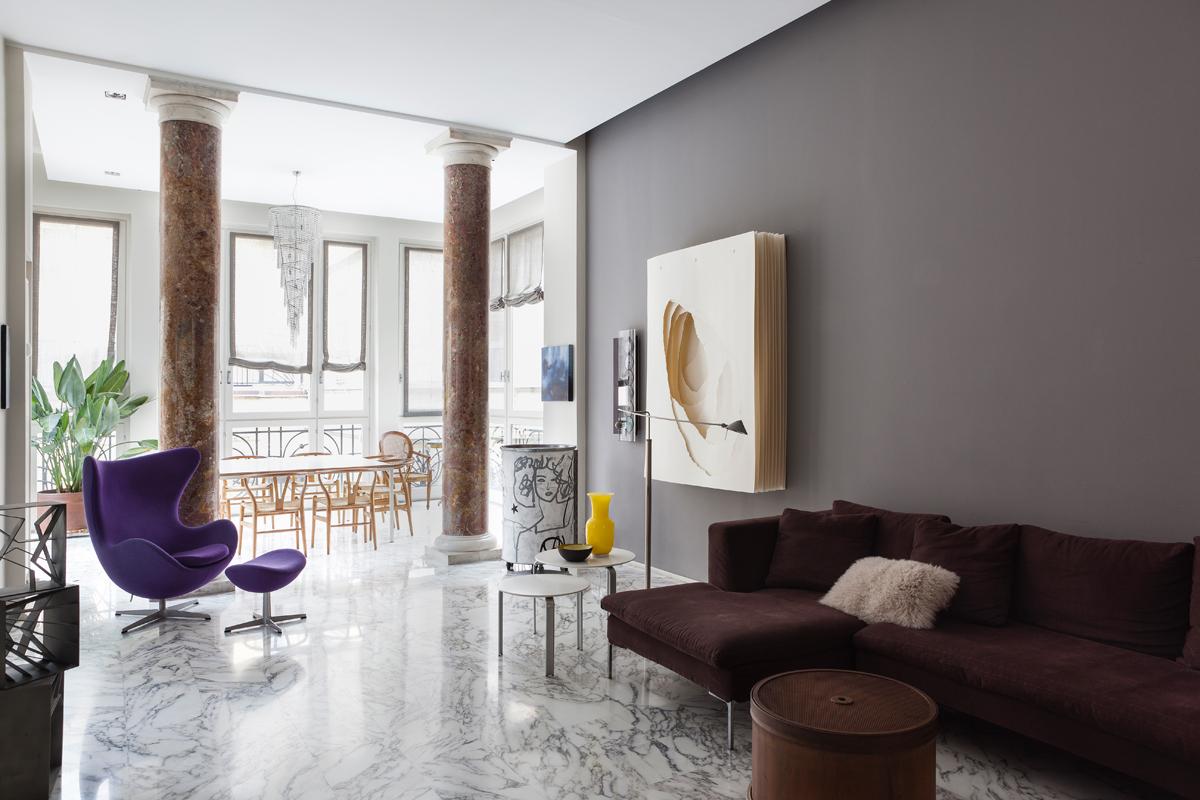 Interni classici nel cuore di milano living corriere for Design case interni