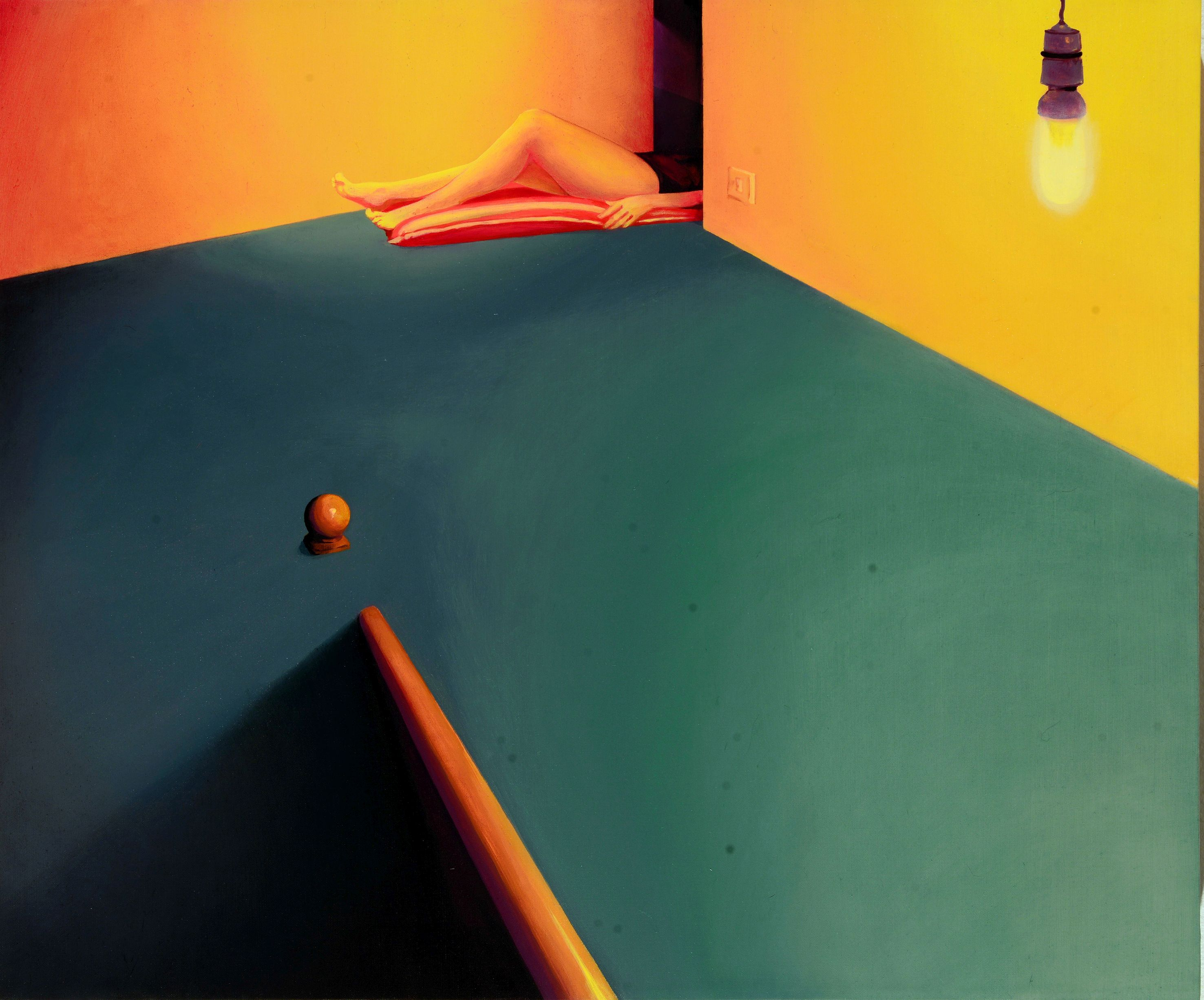 Laura Giardino, FLOOD08, 2017, tecnica mista su tela, 60x50 cm
