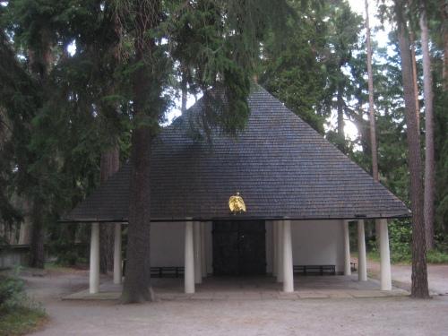 Una foto della cappella di Gunnar Asplund nel cimitero di Stoccolma, a cui si ispira il progetto del Padiglione della Santa Sede