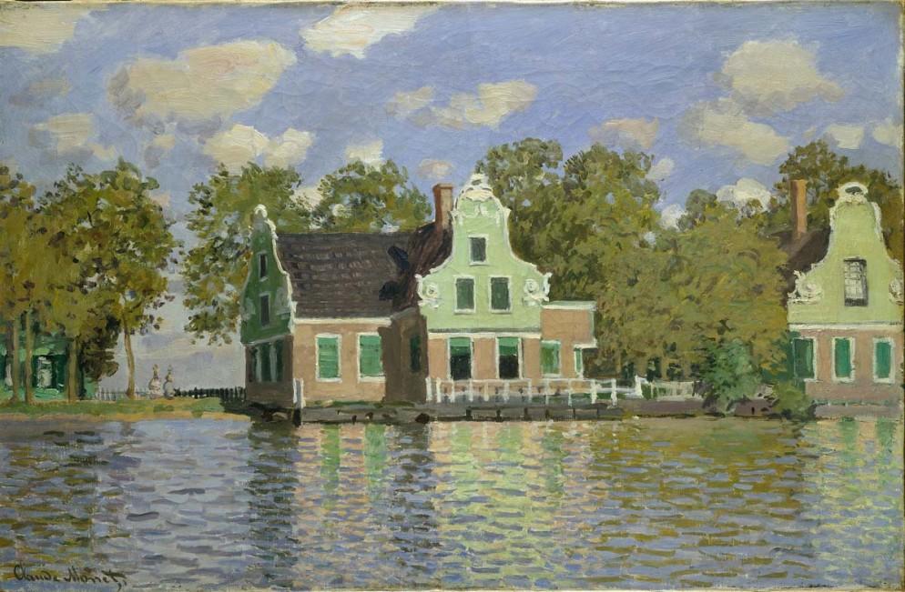 Maisons au bord de la Zaan, à Zaandam, 1871