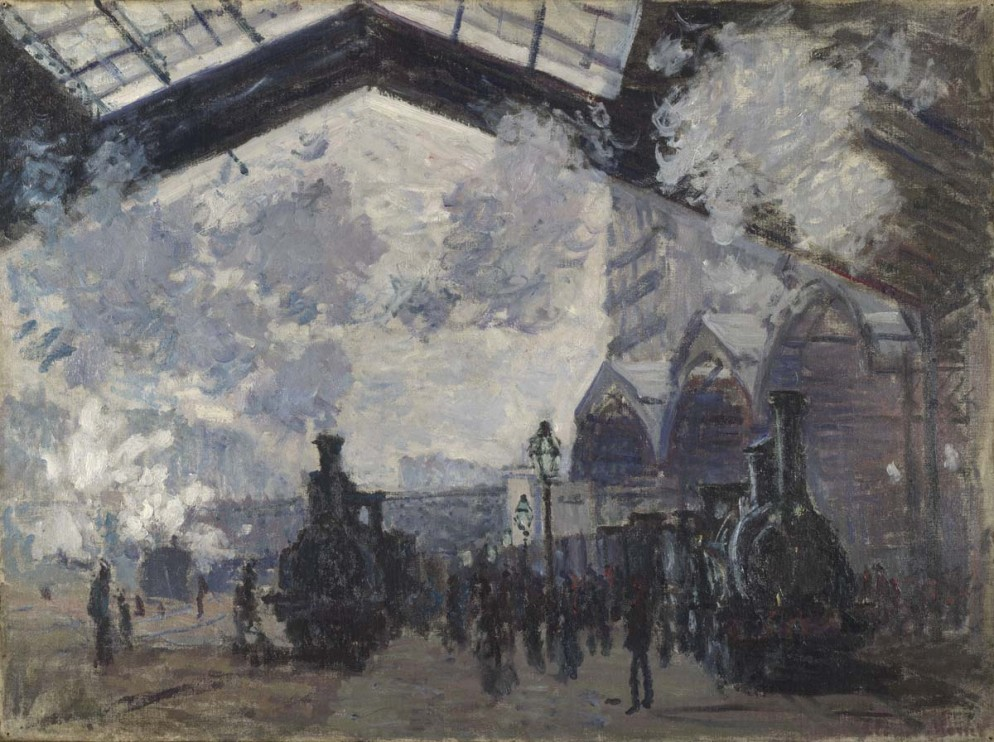 This image is subject to our standard Terms & Conditions http://www.nationalgalleryimages.co.uk/upload/terms_and_conditions.pdfCredit: NG6479 - The Gare St-LazareSpecial Instructions: DIA, Flyers > Up to 1,000 > Single country/territory > 1/4 pageTransmission Reference: National Gallery webdownload