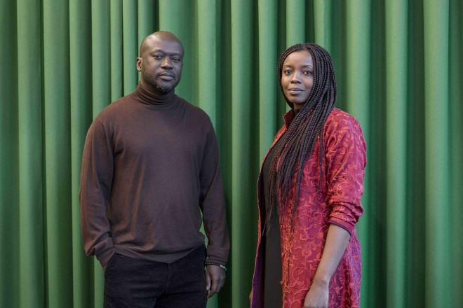Sir David Adjaye, mentor in architecture, with his protégée Mariam Kamara.