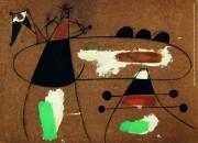 Joan Miro, Peinture, Estate 1936. Olio, caseina, catrame e sabbia su Masonite, 78x104cm. Feliper Braga, © Fundação de Serravels, Porto