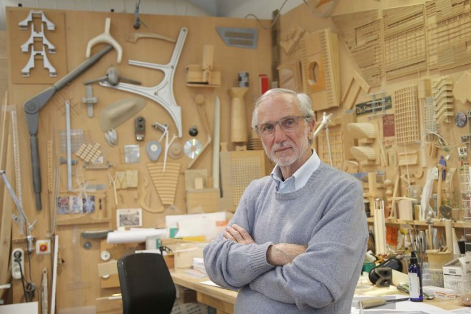 Mandatory Credit: Photo by Francois Mori/AP/REX/Shutterstock (6729319c)Italian architect Renzo Piano poses at his workshop in Paris, France, . The Paris future Courthouse building in construction designed by Italian architect Renzo Piano is scheduled to be completed in 2017France Renzo Piano, Paris, France