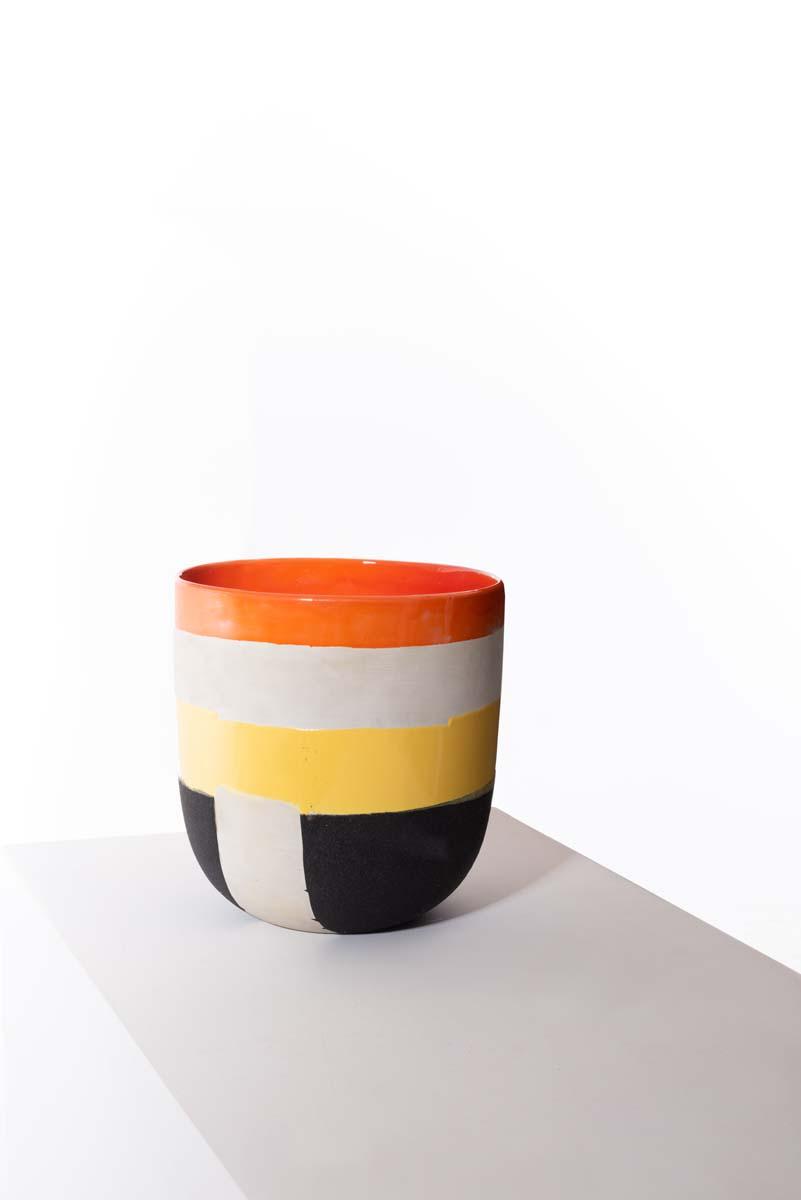 08_Ettore Sottsass, rare céramique, 1959, biscuit et émaillage polychrome - © Artcurial