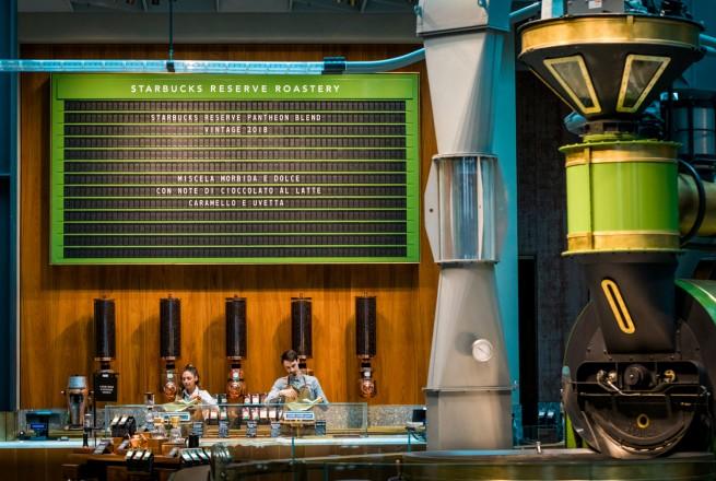 "The ""clacker board"" is shown at the Starbucks Reserve Roastery in Milan, Italy on Sunday, August 02, 2018. (Joshua Trujillo, Starbucks)"
