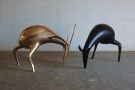 Luigi Mainolfi, Silontes,sculture in bronzo