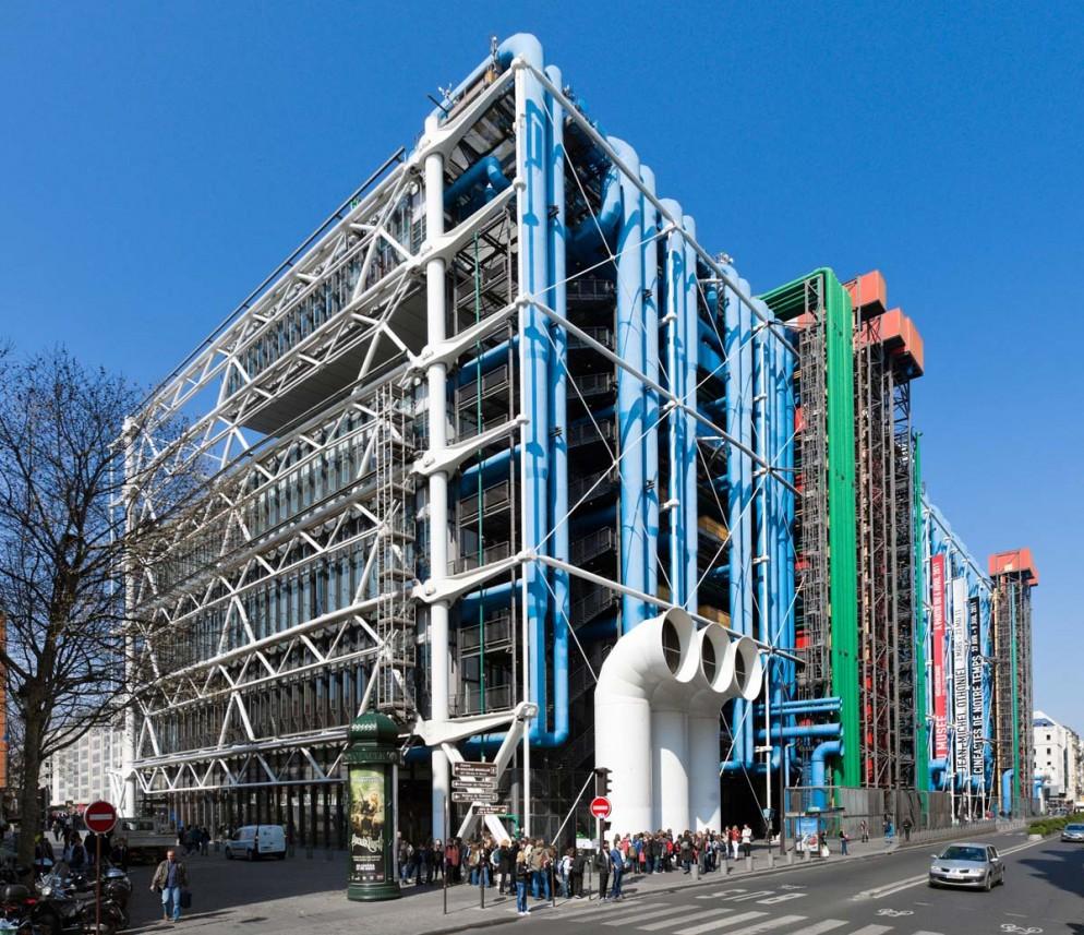 Pompidou Centre, Beaubourg district, 4th Arrondissement, Paris, France