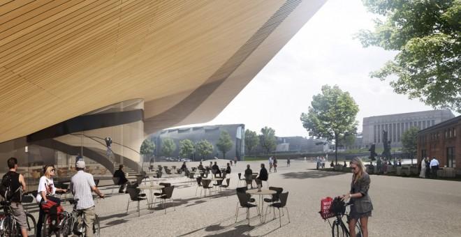 Helsinki Central Library by ALA Architects, restaurant © ALA Architects