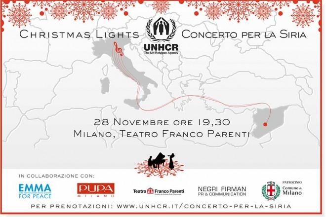 UNHCR_CHRISTMAS LIGHTS_CONCERTO PER LA SIRIA_Save the Date