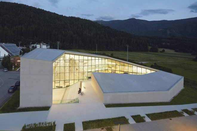 Kletterhalle Bruneck-Südtirol, Planung Architekten Stifter+ Bachmann Pfalzen-Südtirol 2015