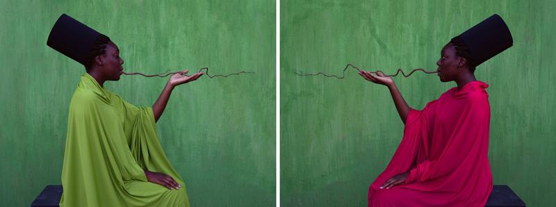 Maimouna Guerresi, Flow (Beyond the Border), 2019, Lambda Print, 105x140 cm ciascuno (dittico)