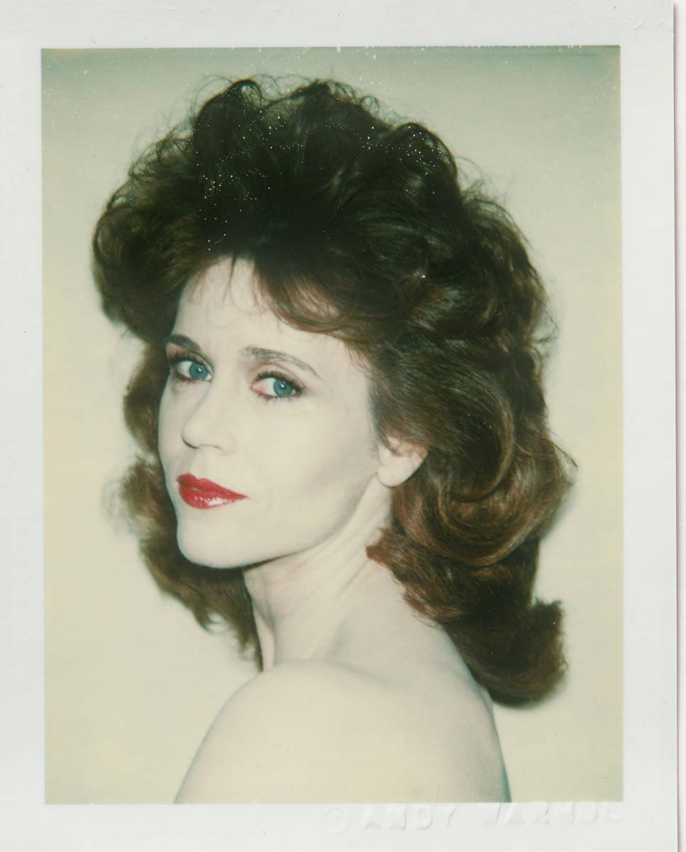 Andy Warhol, Jane Fonda, 1982, Polacolor 2, 10.8 x 8.5 cm, © 2018 The Andy Warhol Foundation for the Visual Arts, Inc. Licensed by DACS, London. Courtesy BASTIAN, London
