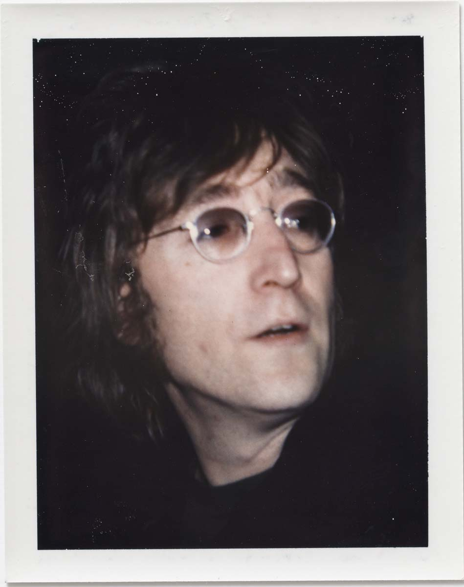 Andy Warhol, John Lennon, 1971, Polacolor Type 108, 10.7 x 8.5 cm. © 2018 The Andy Warhol Foundation for the Visual Arts, Inc. Licensed by DACS, London. Courtesy BASTIAN, London
