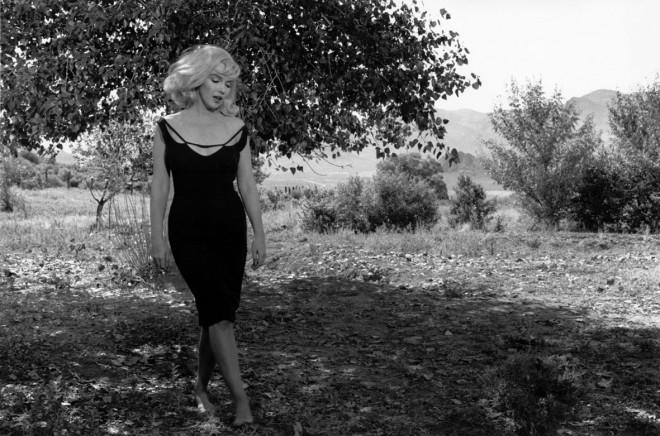 "USA. Reno, Nevada. 1960. Set of ""The Misfits"". Marilyn MONROE."