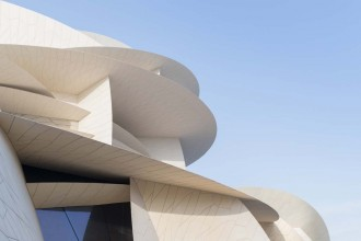 14_Close up view of the interlocking disks of the new National Museum of Qatar_Iwan Baan