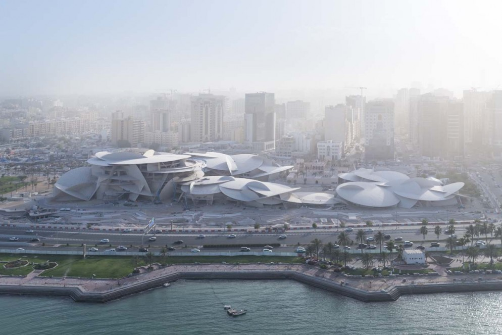 1_Aerial view of the National Museum of Qatar designed by Jean Nouvel_Iwan Baan