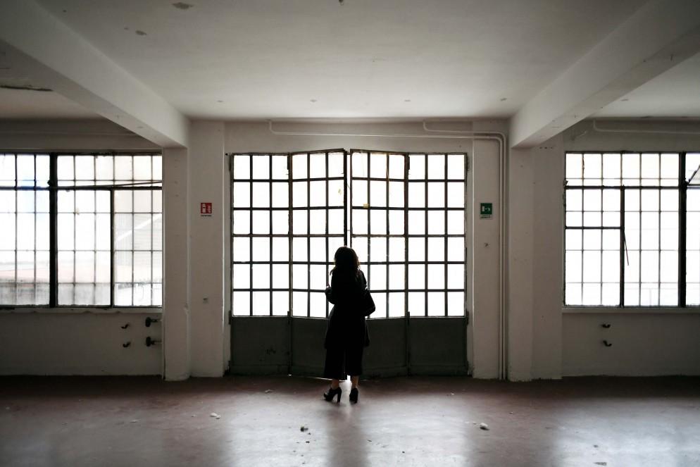 sopralluogo nella ex fabbrica di panettoni Cova, Milano, 23/01/2019.