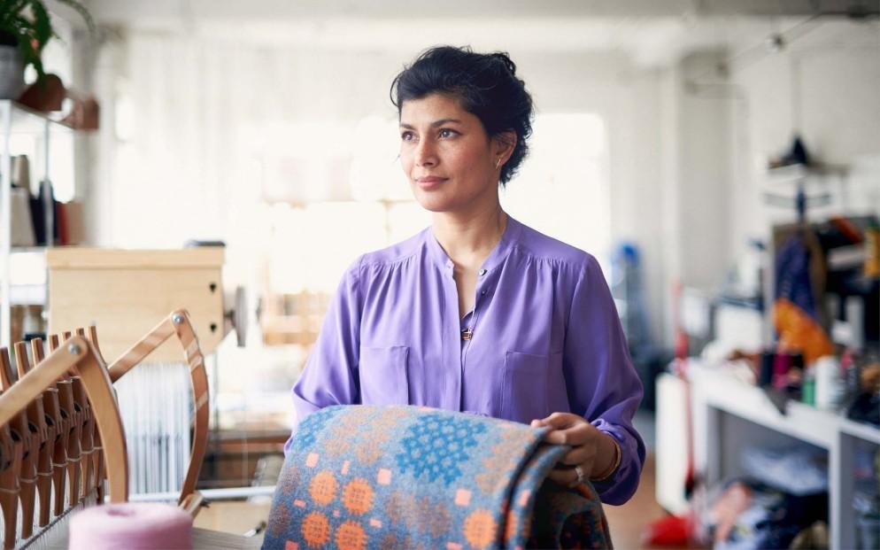 Majeda Clarke_Woven Textile Artist_Cockpit Arts_London Craft Week 2019_2