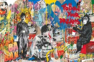 Mr.Brainwash-Mixed_Wall-mixed_media_on_paper-76x152cm-2018a