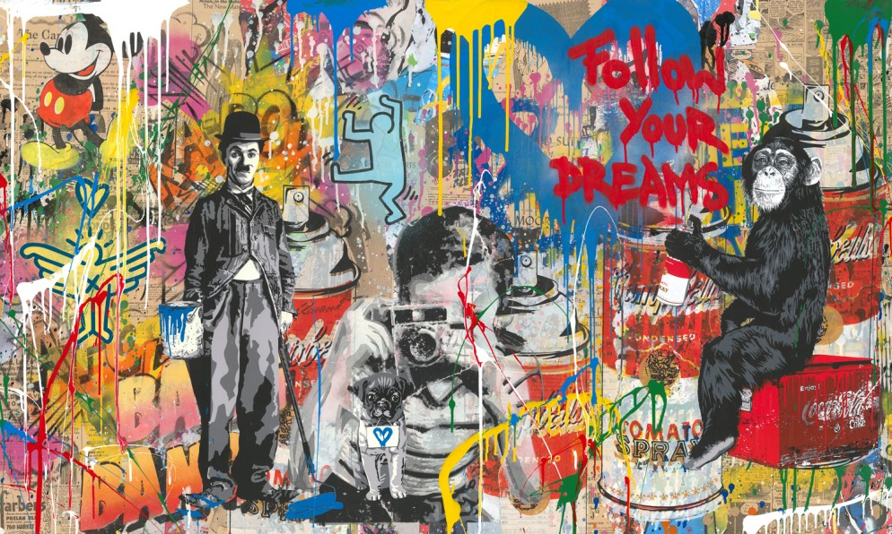 Mr.Brainwash-Mixed_Wall-mixed_media_on_paper-76x152cm-2018a