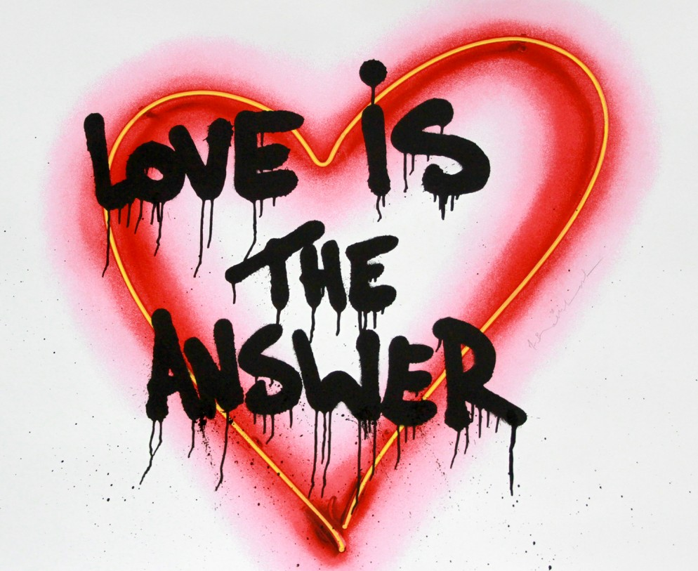 Mr.Brainwash-Speak_from_the_heart_Love_is_the_answer-92x112cm-Silkscreen_Edition_Print_on_paper-2018---Copia