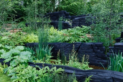 The M&G Garden. Designed by: Andy Sturgeon. Sponsored.by: M&G Investments. RHS Chelsea Flower Show 2019..Stand no. 320