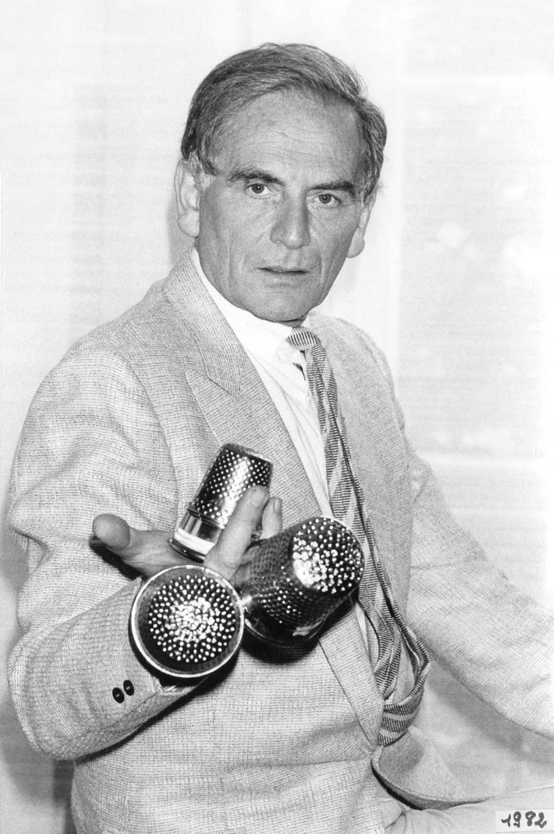Cardin with his three Golden Thimble awards