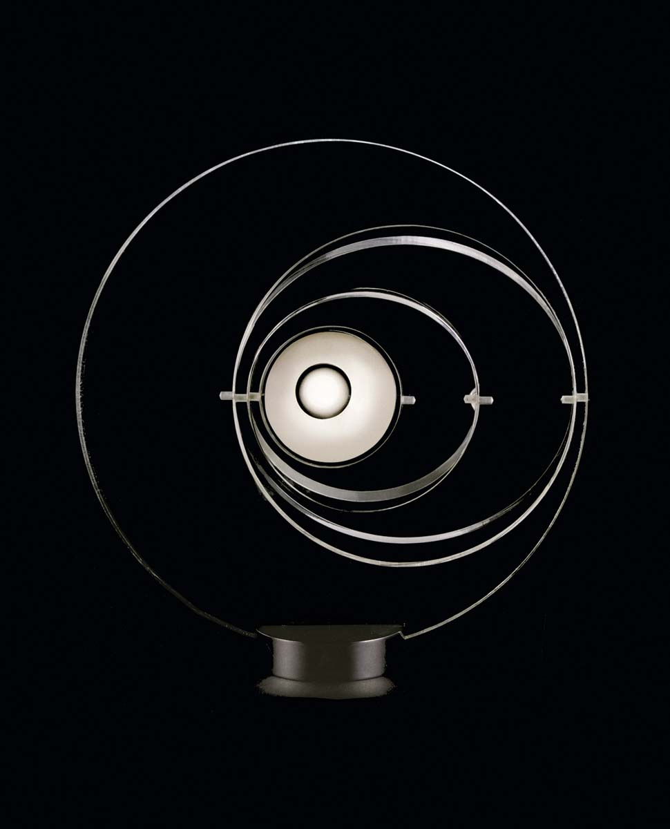Satellite lamp designed by Yonel Lebonici for Pierre Cardin