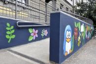 Murales di Pao alla scuola di via Mac Mahon