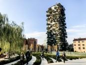 Vertical Forest (Bosco verticale) and biblioteca degli alberi, a new place in Gae Aulenti in Milano, Italy, on November 17 2018 (Photo by Mairo Cinquetti/NurPhoto via Getty Images)